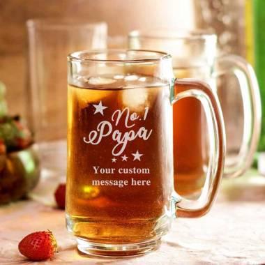 Beer Mug - No 1 Papa with custom text