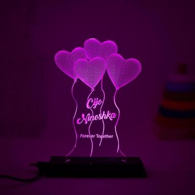 Romantic Night Lamp with custom tagline