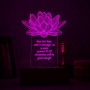 Lotus night lamp Tagline and Message - Multicolor