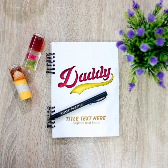 Personalised Diary and Pen for Dad