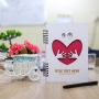 Love and Hugs Customised Diary with Engraved Pen
