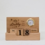 No 1 Daddy with Custom text on Wooden table top