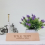Personalised Table top Name plate box with Engraved Pen