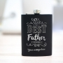 Customised hip flask for Dad