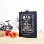 Legend Dad hip flask with personalised text