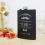 Happy father's Day hip flask with custom text
