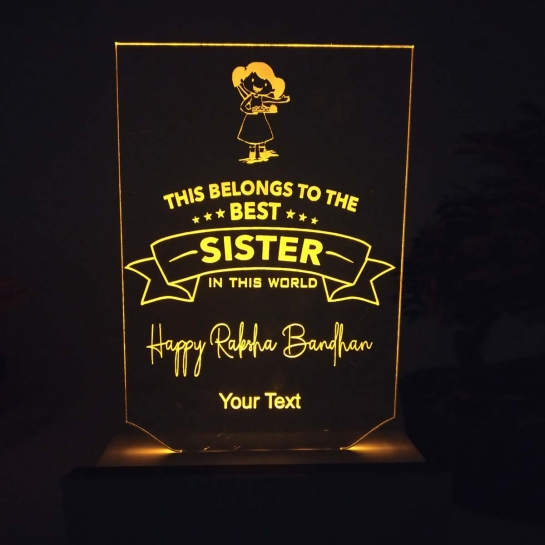 Night Lamp for Best Sister on Rakhi