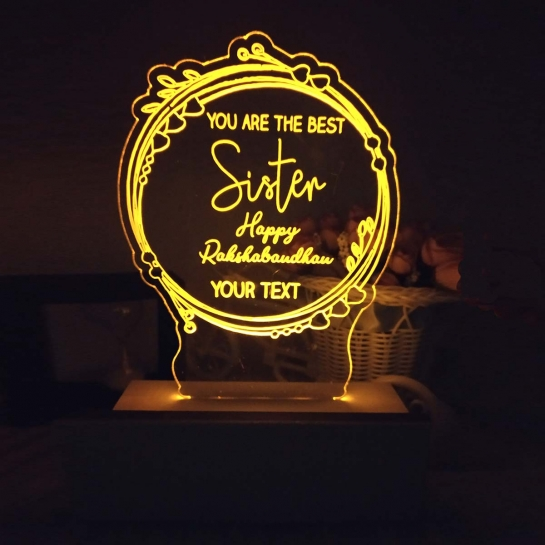 Night Lamp for Best Sister - Rakhi