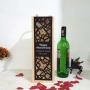 Wooden Wine Box with Couple Names