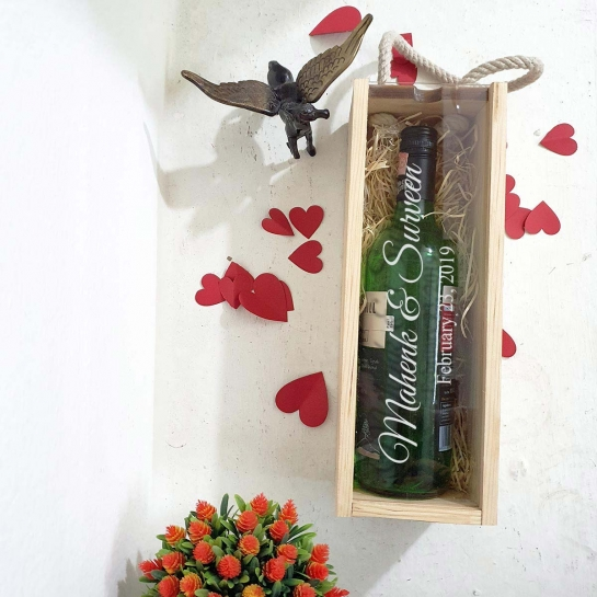 Couple Name and Date Wine Box