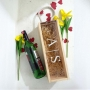 Initials Engraved Wooden Wine Box