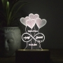 Buy Personalized Photo Engraved Night Lamp with Couple Names