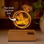 Personalized Photo Engraved Night Lamp - Circular