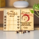 Wooden Tic tac toe + Engraved Love Message with Names