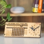 Wooden Perpetual Calendar with Clock - Customized