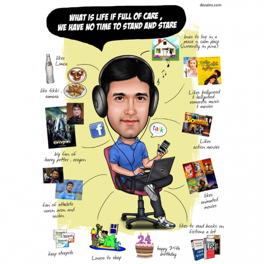 Buy Caricature Poster For Him Online
