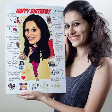 Caricature Poster for Her