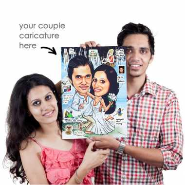 Caricature Poster For Couple