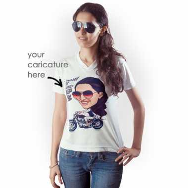 Women Caricature T-shirt