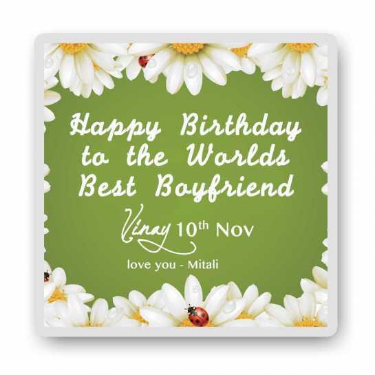 Flowery Birthday-Magnet