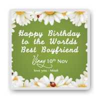 Loving boyfriend personalized photo magnet