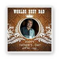 Retro Dad Photo Magnet