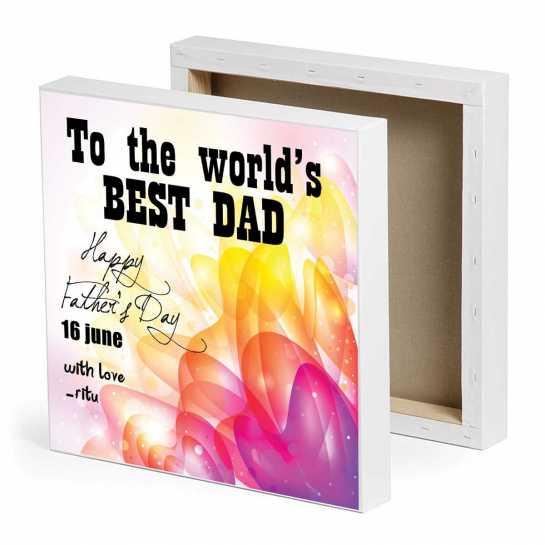 World's Best Dad-Canvas