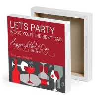 Party Hopper Dad Personalized Canvas