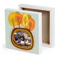 Adventurous Couple Printed Canvas Frame