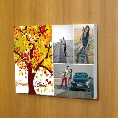 Cute Couple Canvas Photo Frame