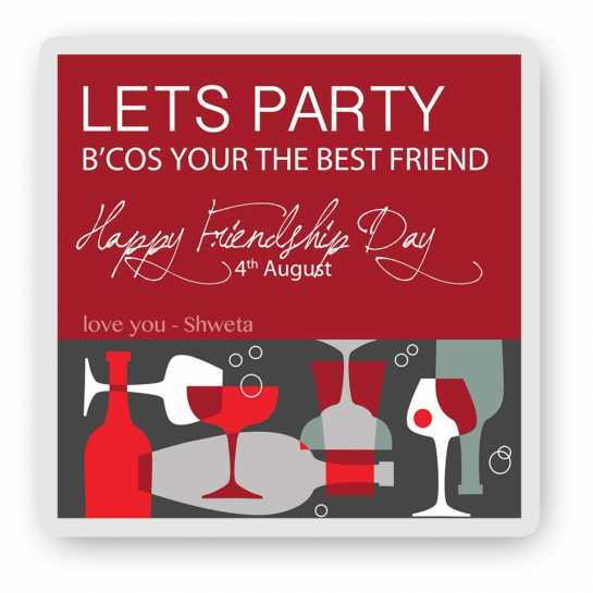 Lets Party - Friendship Day Canvas
