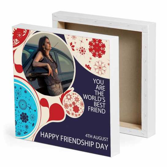 World's Best friend Photo Canvas - Friendship Day Canvas