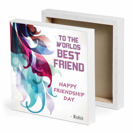 World's Best Friend - Friendship Day Canvas