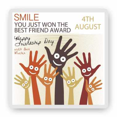 Smile - Friendship Day Magnet