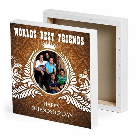 World's Best friends Photo Canvas