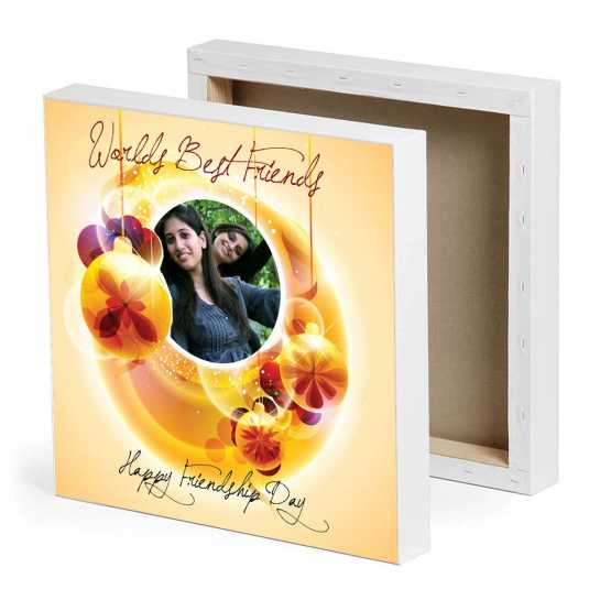 World's Best friends Photo Canvas