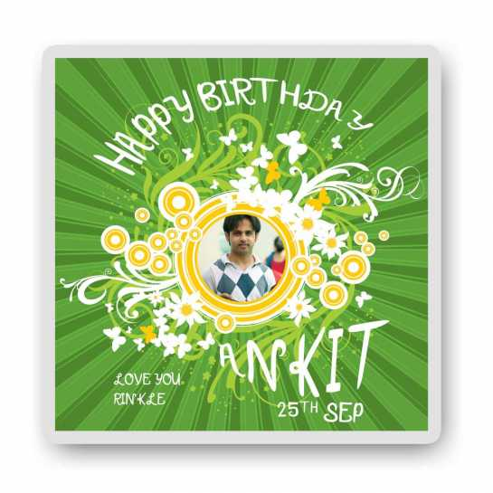 Green Birthday-Magnet