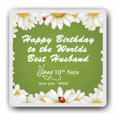 Best husband personalised magnet