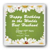 Best husband personalised magnet