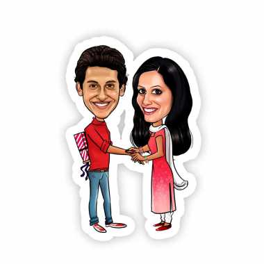 Caricature Magnet for Raksha Bandhan