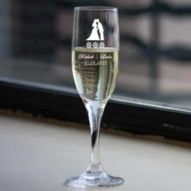 Customized wedding Champagne Glasses