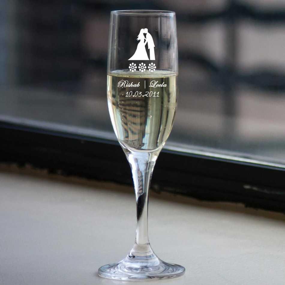 Buy customized wedding champagne glasses online for Buy champagne glasses online
