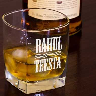 Personalized Couple Whiskey Glass