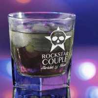 Rockstar Couple Customized Whiskey Glass