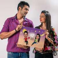 Swinging Couple - Caricature Canvas