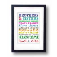 Brother Sister Personalized Frame