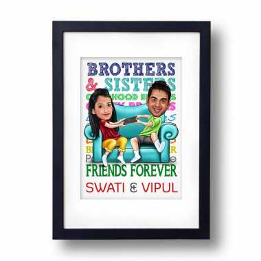 Friends Forever Caricature Photo Frame