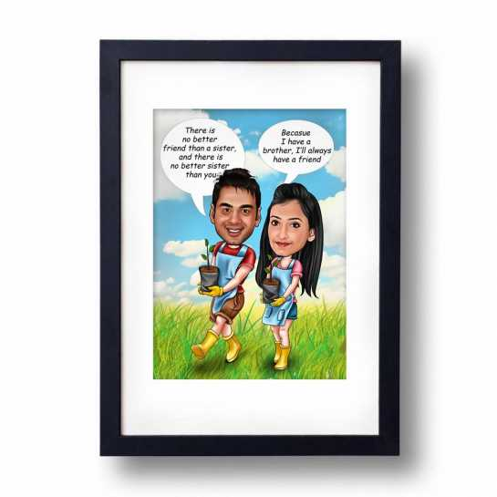 Brother - Sister - Caricature Frame