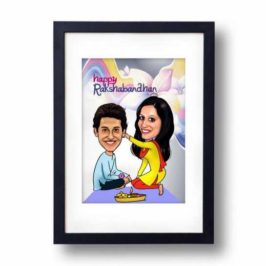 Sweet Bro/Sis - Caricature Frame