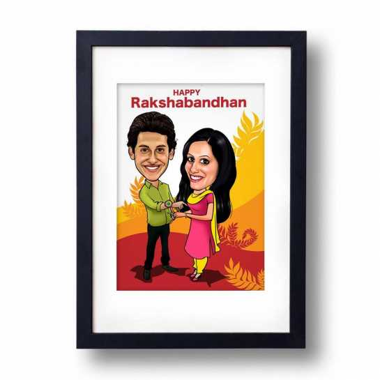Adorable Bro/Sis - Caricature Frame